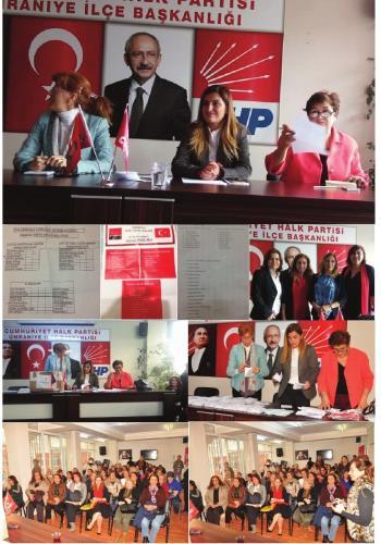 CHP Ümraniye İlçe Kadın Kolları Kongresi Ali Cengiz Oyunuyla Seçim Yapıldı