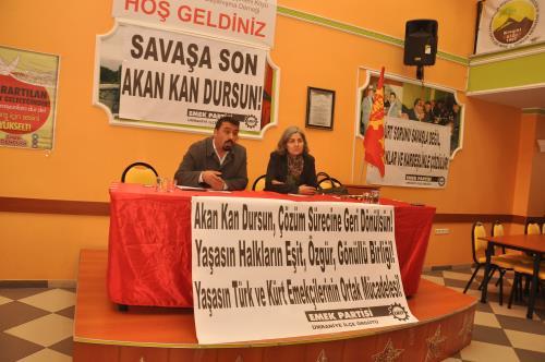 Dünyadaki ve Türkiye'de, Ortadoğu'daki gelişmeler hakkında toplantı düzenlenildi