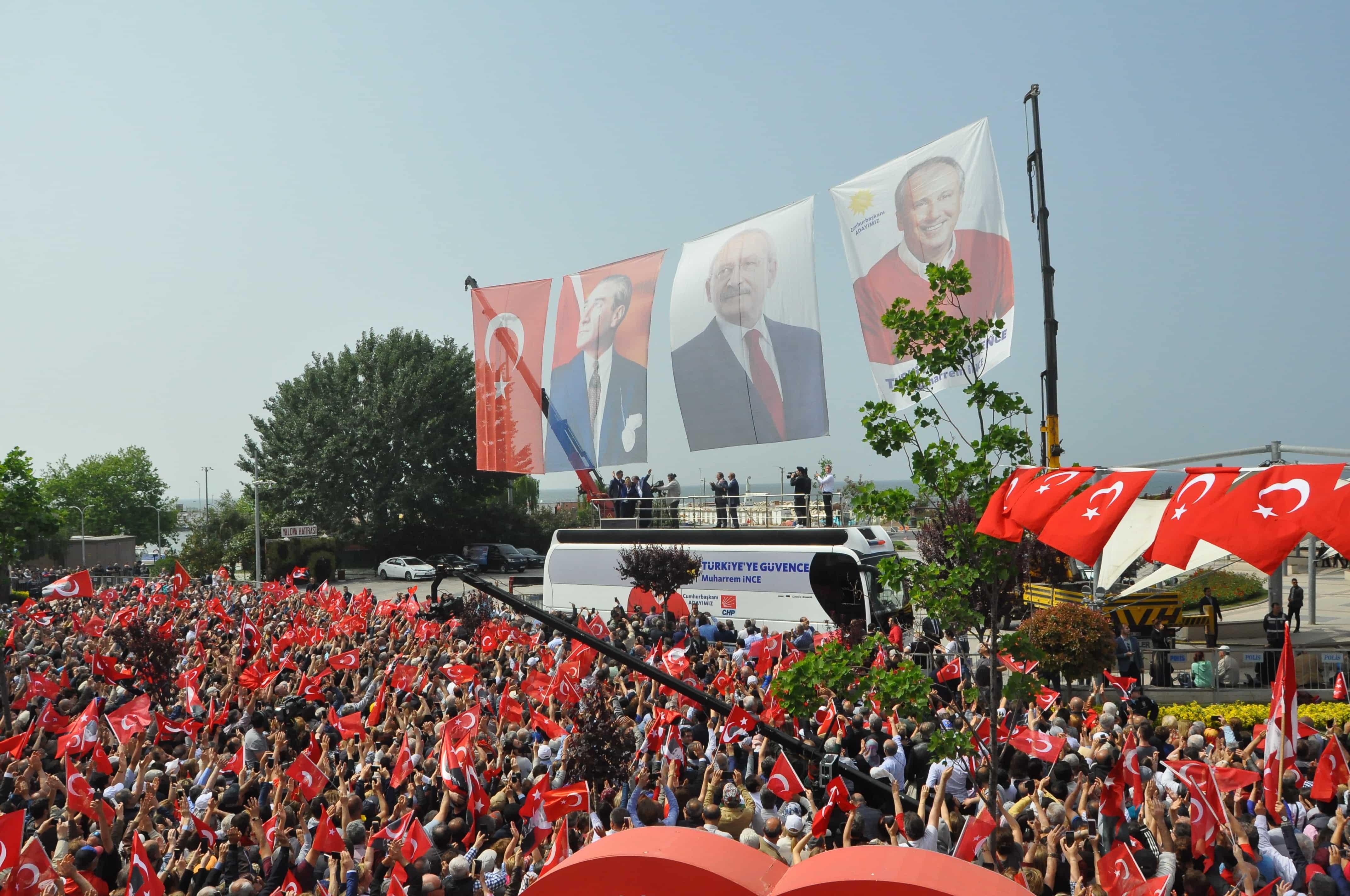 Muharrem İnce Cumhurbaşkan seçim startını Yalova'dan verdi