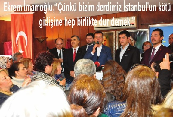 """Ekrem İmamoğlu,""""Çünkü bizim derdimiz İstanbul'un kötü gidişine hep birlikte dur demek."""""""