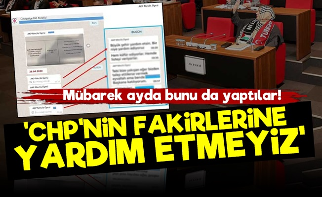 AKP'li Değilsen Yardım da Yok!